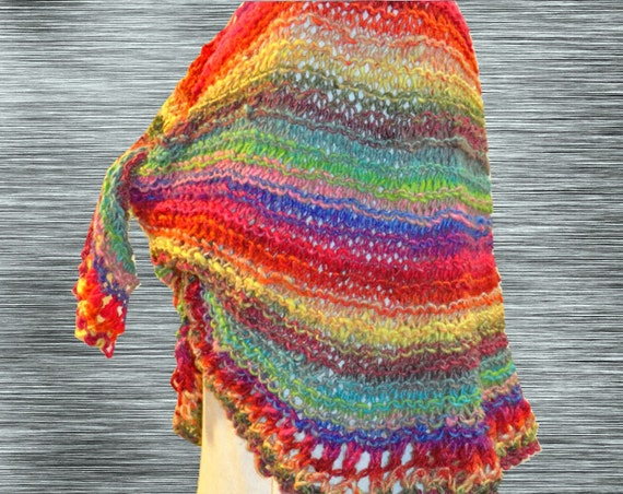 Knit Shawl Pattern Easy Knitting Pattern Easy to Knit Prayer