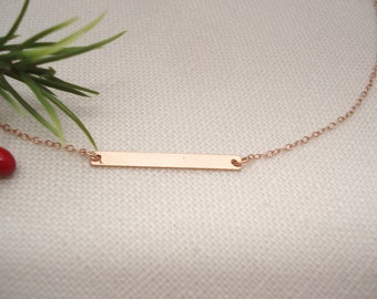 14kt. Rose Gold-filled bar Necklace...Jewelry for simple everyday, layering, Delicate minimalist necklace, wedding, bridesmaid gift