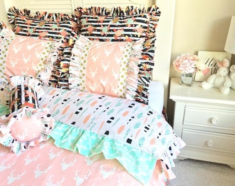 Stag Twin Bedding Set for Twin, Twin Bedding Ensemble, Twin Set Including all Pillows, Bedding sets for Girls, Children's Bedding