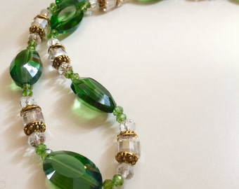 Green Beaded Necklaces