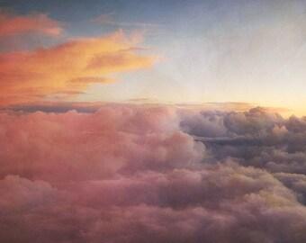 "Cloud Photography - ""Paint Me a Picture"" nature sunset photography sky pastel pink orange purple nursery art home decor"