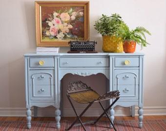 Pale blue desk/vanity - SOLD