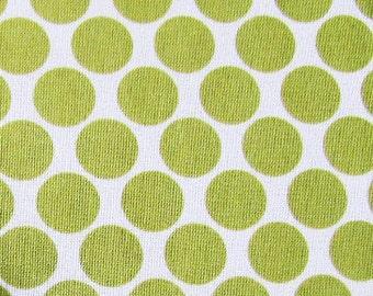 Amy Butler Fabric- Full Moon Polka Dot in Lime