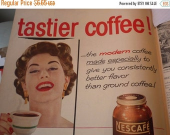 ON SALE: Vintage Ad - - Nescafe Coffee- - 1950s original ad -