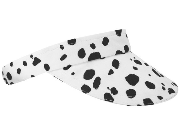 Dalmatian Nation - Ladies Sports Fashion Visor - Classic Black & White Dog Spots animal skin print - Free USA Shipping - Small Medium Large