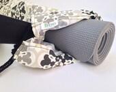 Gray Flower Yoga Mat Bag