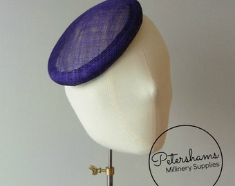 16cm Round Sinamay Button Fascinator Base Sinamay Millinery Fascinator Hat Base - Purple