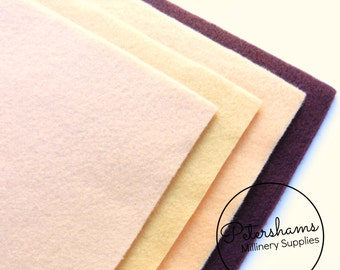 Pack of 8 Sheets A4 Acrylic Felt for Crafting - Assorted Natural Colours