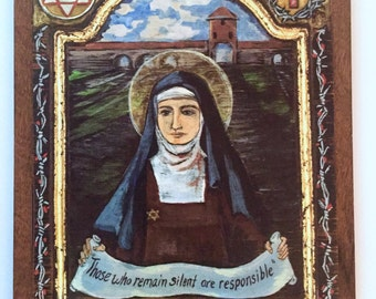 Catholic art Saint Edith Stein St Teresa Benedicta of the Cross holocost victim Jewish convert nun
