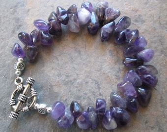 Amethyst Bracelet ~ Crown Chakra ~ Metaphysical/Boho/Spiritual Jewelry