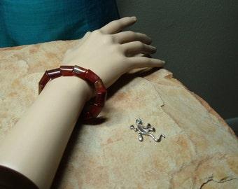 Natural Carnelian Gemstones Stretch Bracelet