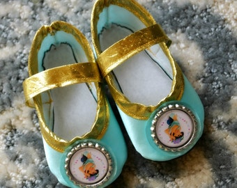 Arabian Princess Play Slippers (Sizes 1 - 5) MEASURE your child's foot PLEASE