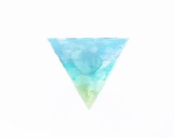 minimalist watercolor print: Right Way Up