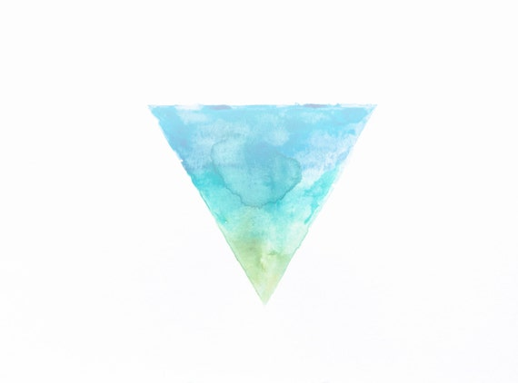 minimalist watercolor print: Right Way Up