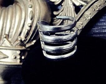 fork ring vintage statement ring gorgeous silver ring