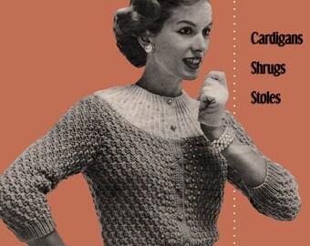 Bear Brand #350 c.1955 - 1950's Era Knitting Patterns Fashions for Women (PDF EBook - Digital Download) Includes FREE Bonus Book!