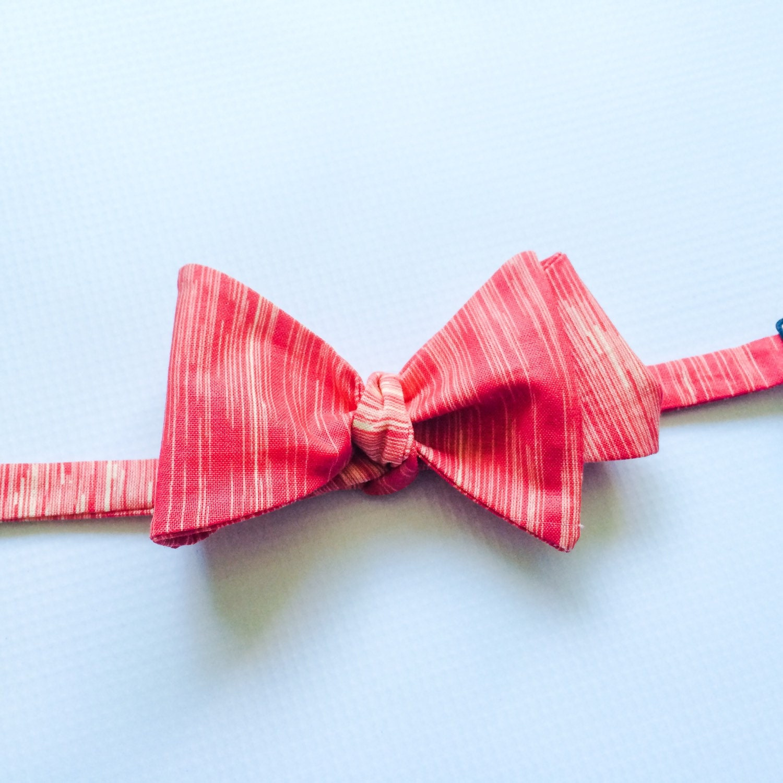 Mens Neckwear Coral Bow Tie Coral Bowtie Groomsmen Bow