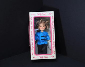 """1982 Vintage 8"""" Shirley Temple Doll from """"Stowaway"""" IDEAL NRFB"""