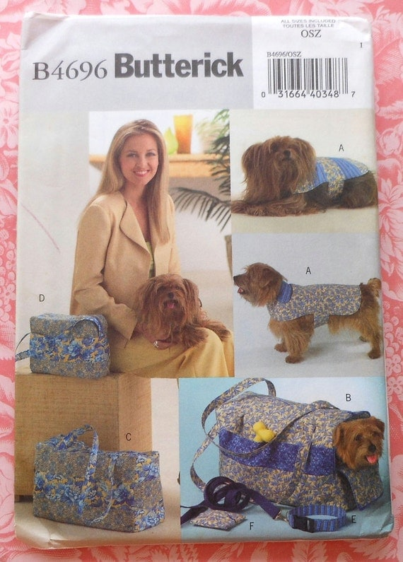 Dog Carrier Sewing Pattern UNCUT Butterick B4696 coat