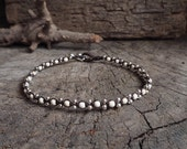 White Turquoise Silver Cute Anklet