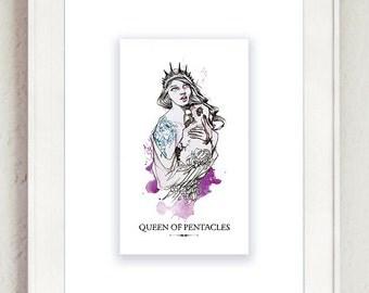 Queen of Pentacles Tarot Print