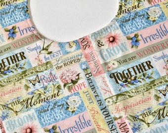 Women Adult Bib, Senior Elderly Bib Gift, Special Needs Clothes Protector, Teen Man or Women, Feeding, Nursing Home, Craft