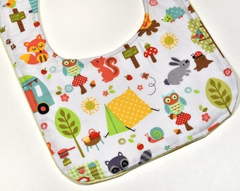 Baby Boy Bib Gift Camping Reversible Bib New Mom Cute Baby Bib