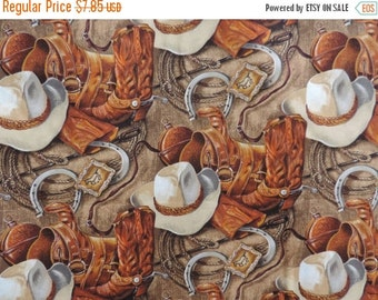 Cowboy Hats n Boots  Fabric--Lots of Details--Gorgeous