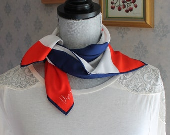 Vintage 1970s Red, White and Blue Letter R for Republican Patriotic Vera Scarf