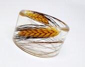 Blackbeard Wheat in a Resin Bracelet.  Resin Jewelry.  Dried Wheat.  Personalized Bracelet. Contemporary Jewelry. Nature Jewelry