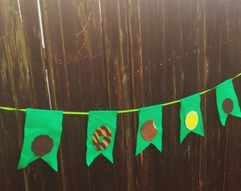 string of cookies-Scout cookie booth banner- felt- garland-custom