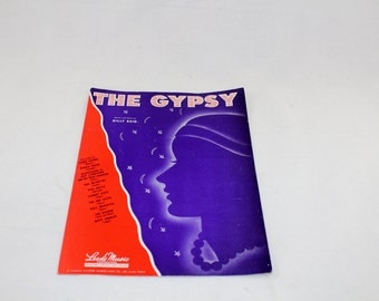 The Gypsy. Words and Music by Billy Reid. 1946. Vintage Sheet Music. Great Condition!