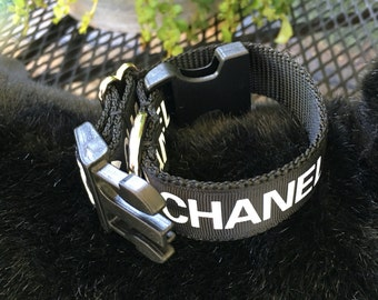 Chanel inspired dog collar