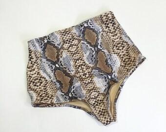 Snake High waist swimsuit bottoms