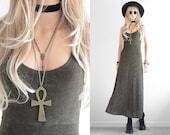 Vintage Maxi Dress Snake Skin Long Maxi Dress Minimalist Clothing Long Body Con Dress 90s Grunge 90s Dress 90s Clothing Vintage Dress xs s