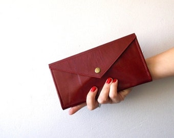 ON SALE Red Envelope  wallet , leather  women wallet , women purse