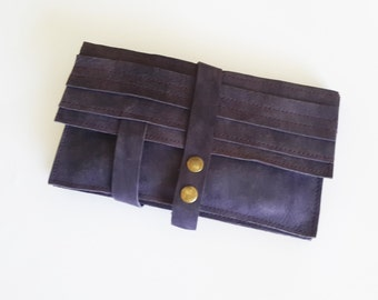 Purple  wallet - leather women wallet