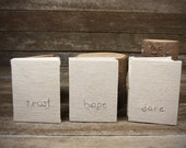 small hand-bound journal: personalized in hemp/organic cotton by kata golda