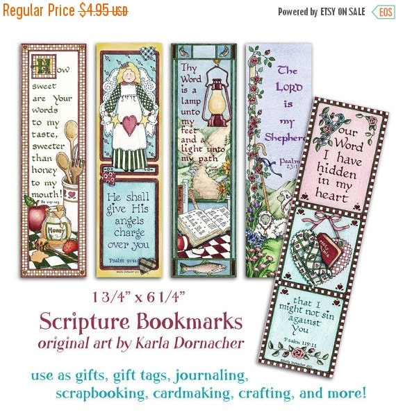 40% OFF Five Bible BOOKMARKS INSTANT Download Scripture Verse Digital Printable Download Christian Religious kd127