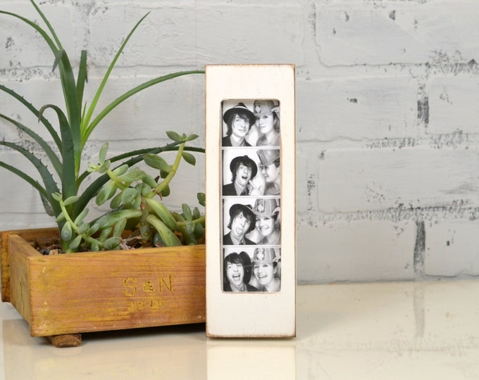 """Photo Booth Frame for 2 x 6 Picture Strip in Vintage COLOR of YOUR CHOICE - 2x6"""" Photo Booth Frame - Wedding Photo Booth Frames"""