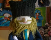 Green Haired Bearded Hipster Man Plush