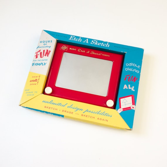 Vintage 1950s Toy / 50s Ohio Art Etch A Sketch In Box