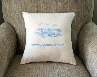 cape cod pillow, cape cod.calm