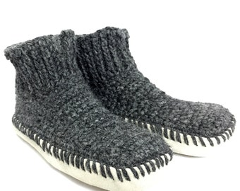 Alpaca Slippers with leather soles - Soft and cozy for year-round use