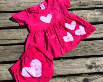 Pink Baby Dress Set (18 months), Baby Dress and Diaper Cover Set, Fuchsia Baby Dress, Baby Girls Dress, Pink Toddler Dress Set