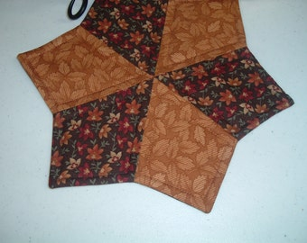 Fall Quilted Candle Mat Table Topper