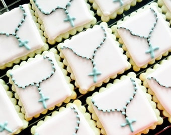 Rosary sugar cookies. This listing price includes 12 cookies.