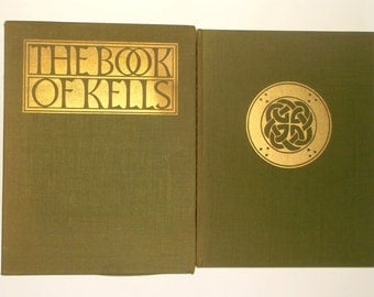 Vintage 1974 THE BOOK Of KELLS • First American Edition • with Slipcover • Biblical