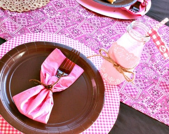 Cowgirl Party Table Runner