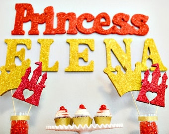 Elena of Avalor Decorations, Castles, Princess Party, Glitter, Centerpieces, Princess Decorations, Princess Elena Party, Princess